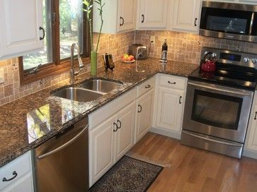 Kitchen Remodel, Akron, OH - traditional - Kitchen - Cleveland - Cabinet-S-Top.  Baltic Brown Granite ...
