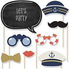 Ahoy - Nautical - Photo Booth Props Kit - 20 Count