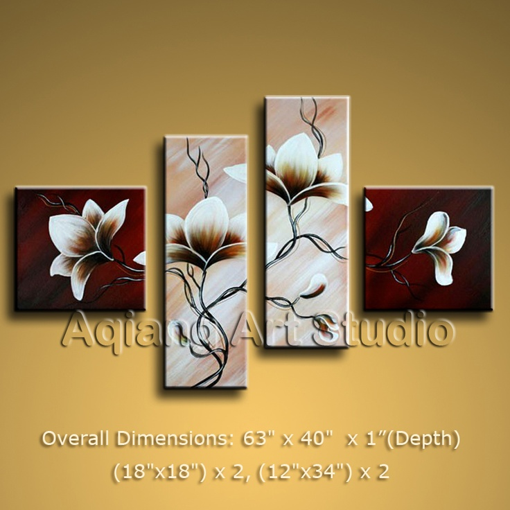 Contemporary modern oil paintings of tulip flower home decor wall art huge boyi 128 00 more
