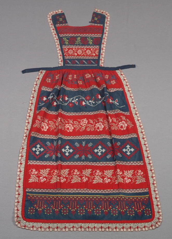 Apron from set: woman's blouse and apron (with a: skirt) - | FAMSF Explore the Art