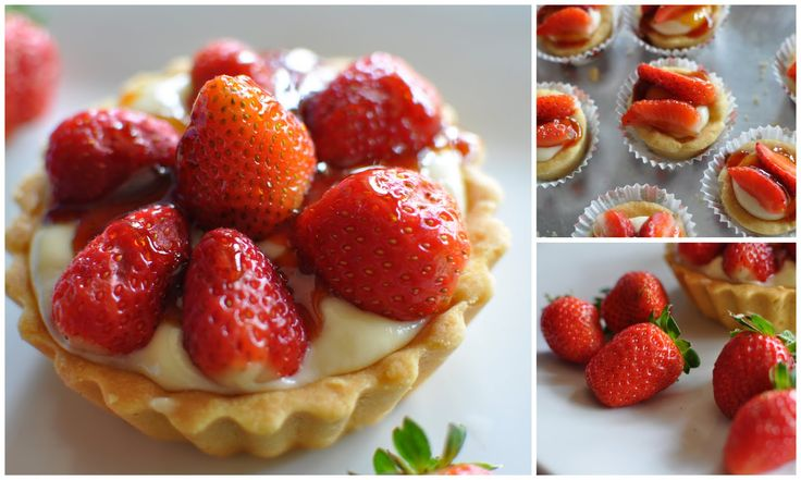 The Kitchen Guardian: Strawberry Shortbread Tart With Strawberry Toffee Drizzle