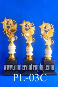 Jual Trophy Piala Penghargaan, Trophy Piala Kristal, Piala Unik, Piala Boneka, Piala Plakat, Sparepart Trophy Piala Plastik Harga Murah Agen Jual Piala Trophy Marmer Murah-PL-03C