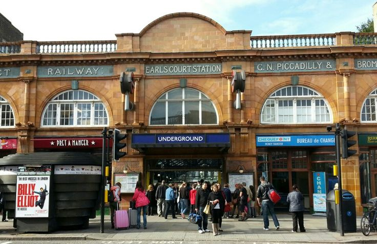Earl's Court London Underground Station in Earls Court, Greater London has a Tardis outside