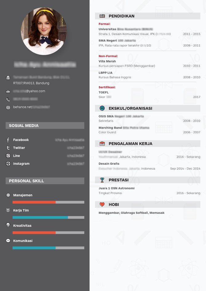 Contoh-Contoh CV Formal, Modern, Kreatif dalam Bahasa ...