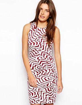 Club+L+Feather+Print+Mini+Dress