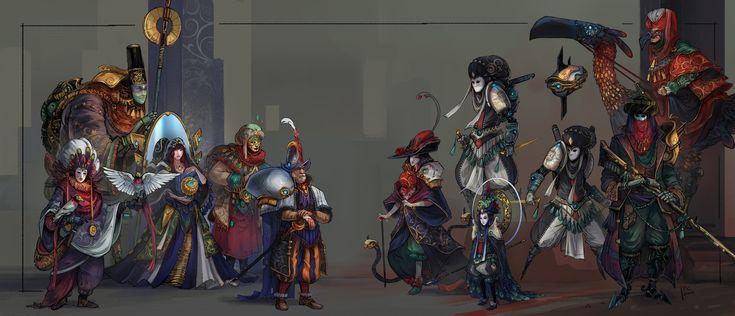 ArtStation - подчинение Флориана COUDRAY на древних цивилизаций: Потерянный & Найдено - Дизайн персонажей