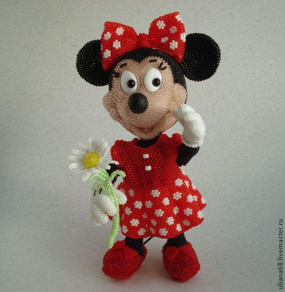 Купить Бисерная Минни Маус - минни маус, мышь, мышка, мышка игрушка, минни, бисер