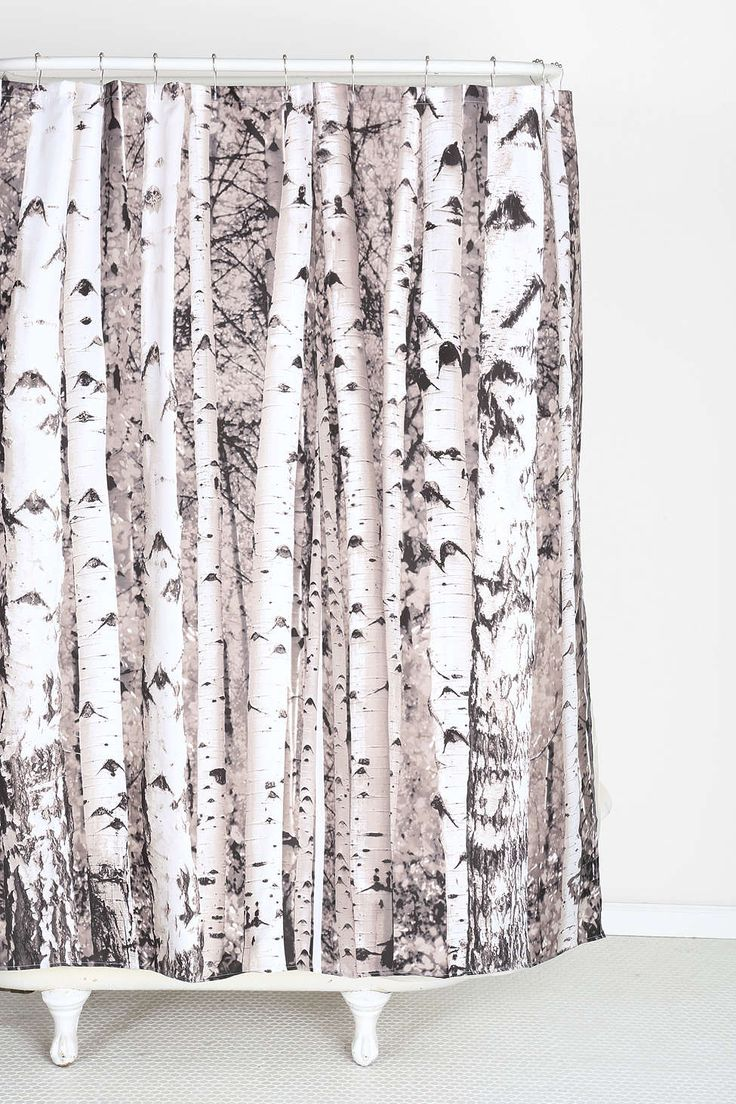 Birch Tree Shower Curtain - Urban Outfitters- only $20 at modcloth.  Photobooth backdrop