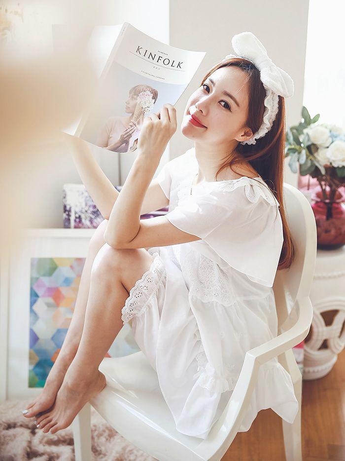 여성_사브리나 순면투피스(화이트,핑크) 16-1002