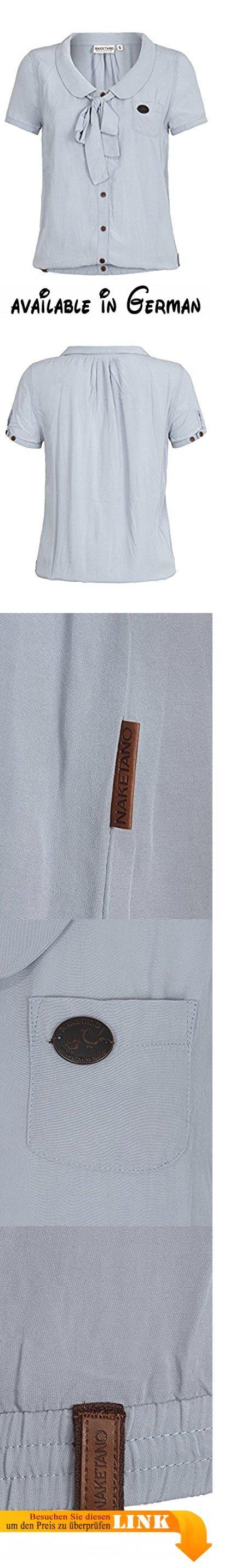 Damen T-Shirt Naketano Kurz Kacken III T-Shirt. Bluse mit Gummibündchen und allover Druck. 100% Viskose. Maschinenwäsche bei 30°C, nicht Trockner geeignet, nicht bügeln, nicht chemisch Reinigen #Apparel #SHIRT