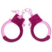 Pink Sparkly Hen Night Handcuffs and Key