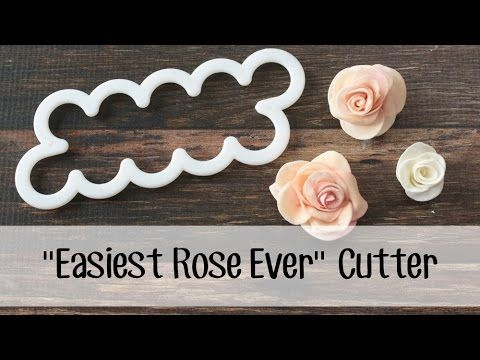 "How *I* use the ""Easiest Rose Ever"" cutter to make a fondant rose"