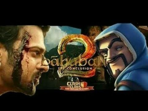 Baahubali - 2 Telugu Movie |clash of clans mix |cartoon version|