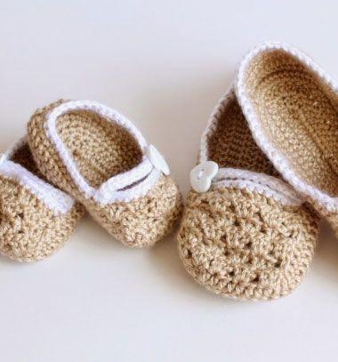 Mom - baby matching slippers ( baby shower gift ) // Baba - mama horgolt házi papucs szett (ingyenes horgolásminta) // Mindy - craft & DIY tutorial collection