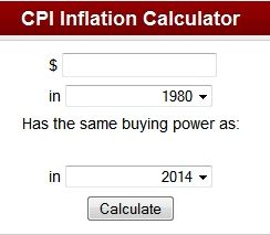 The CPI inflation calculator uses the average Consumer Price Index for a given calendar year. This data represents changes in prices of all goods and services purchased for consumption by urban households. This index value has been calculated every year since 1913. For the current year, the latest monthly index value is used.