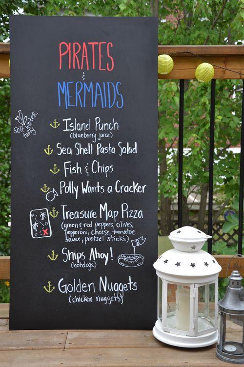 pirate and mermaid food/ menu ideas
