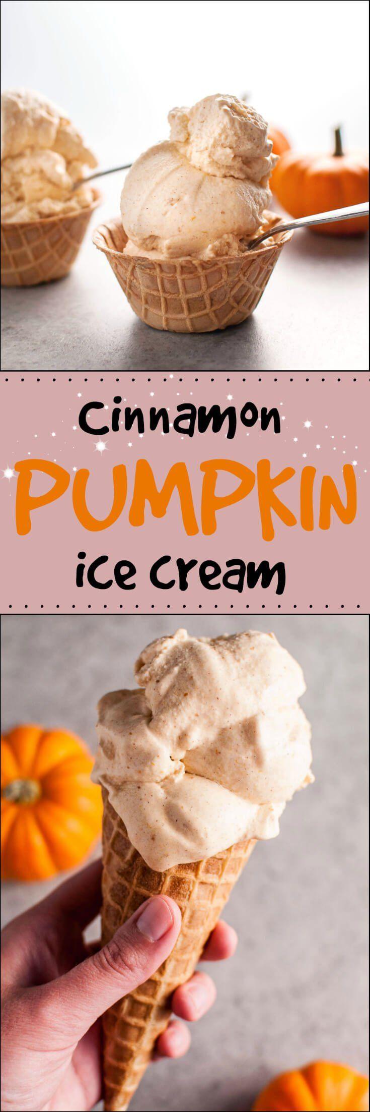 ingredient ice cream maker recipe for cinnamon pumpkin ice cream ...