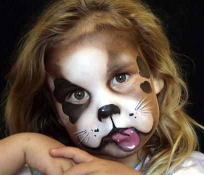 Puppy Face Painting Google Search Redsfacepainting Com Dog
