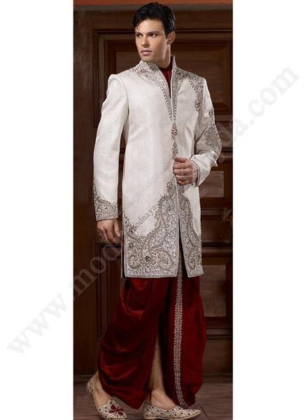 Мужские белые шелковые брюки
