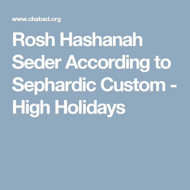 Rosh Hashanah Seder According to Sephardic Custom - High Holidays