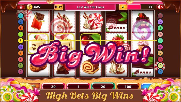 ปักพินในบอร์ด Candy Sweet Slots Free Lucky Cash Casino