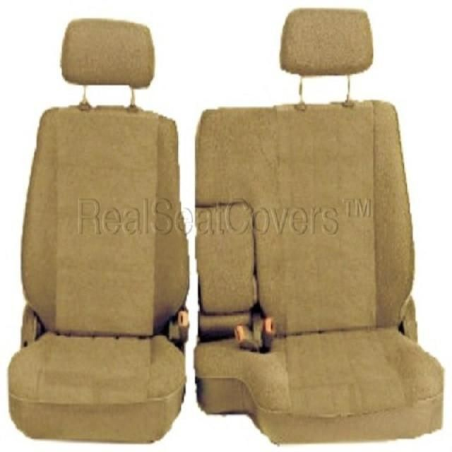 A67 Toyota Tacoma Front 60/40 Split Bench 10mm Seat Covers Custom Made for Exact Fit 1995 - 2000
