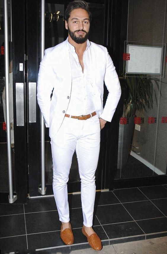 Mens White Suits Business Party Occasion Formal Suit Groom ...