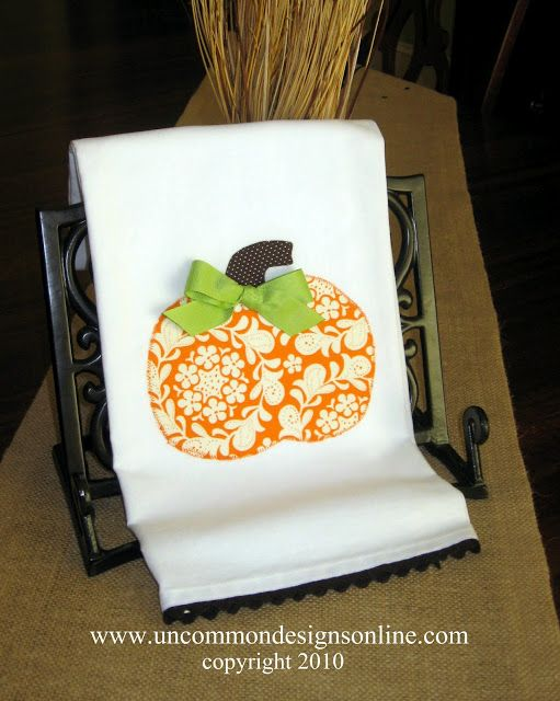 fall tea towel ideas