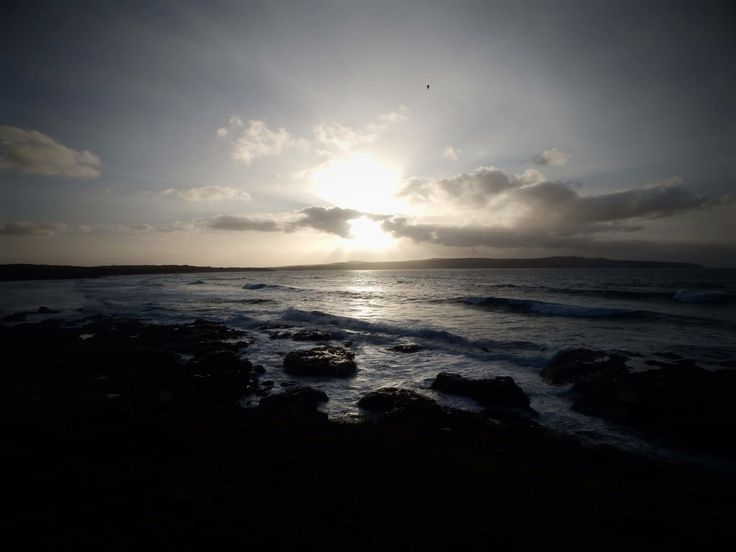 Sunset over godrevy, Cornwall