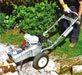 Portable Stump Grinder - This portable stump grinder is perfect for grinding away small to large stumps in your garden.  #toolhire #equipmenthire #gardening #diy #stumps #grinder #grass #wood #trees #felling