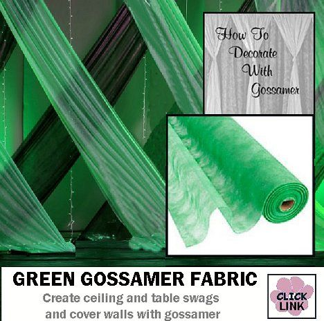 Easy prom decorations - cover up walls, ceilings, cover tables and more with #gossamer #fabric.