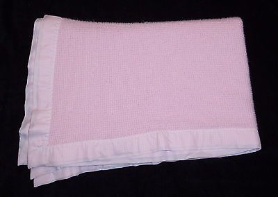 Details About Thermal Waffle Weave Baby Blanket With Satin