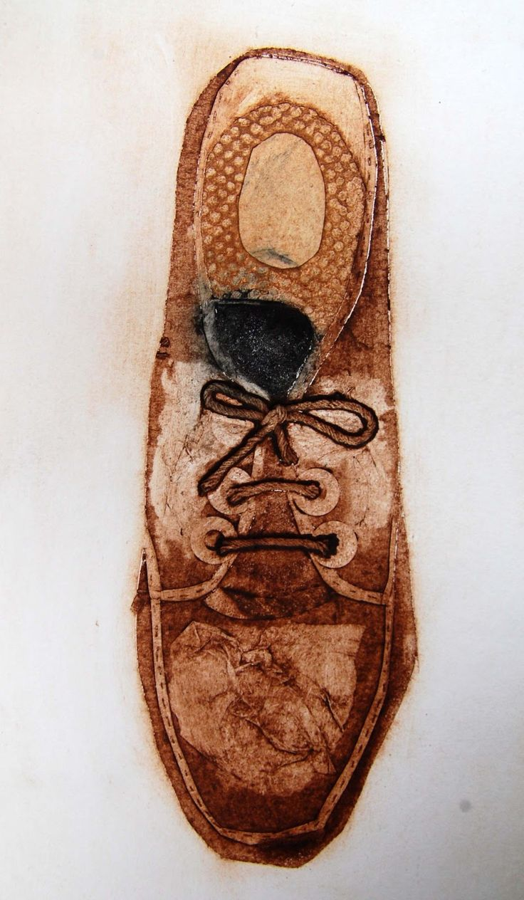Thread and Thrift: collograph shoes by MandyPattullo