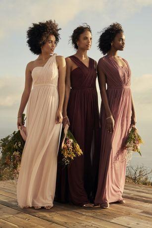 Long Bridesmaids Dress Styles