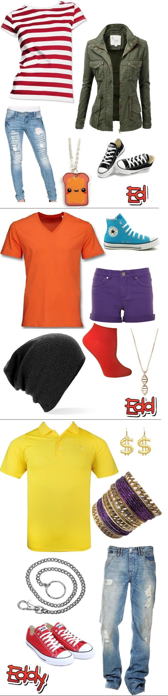 Outfits inspired by the Cartoon Network show Ed, Edd n' Eddy.
