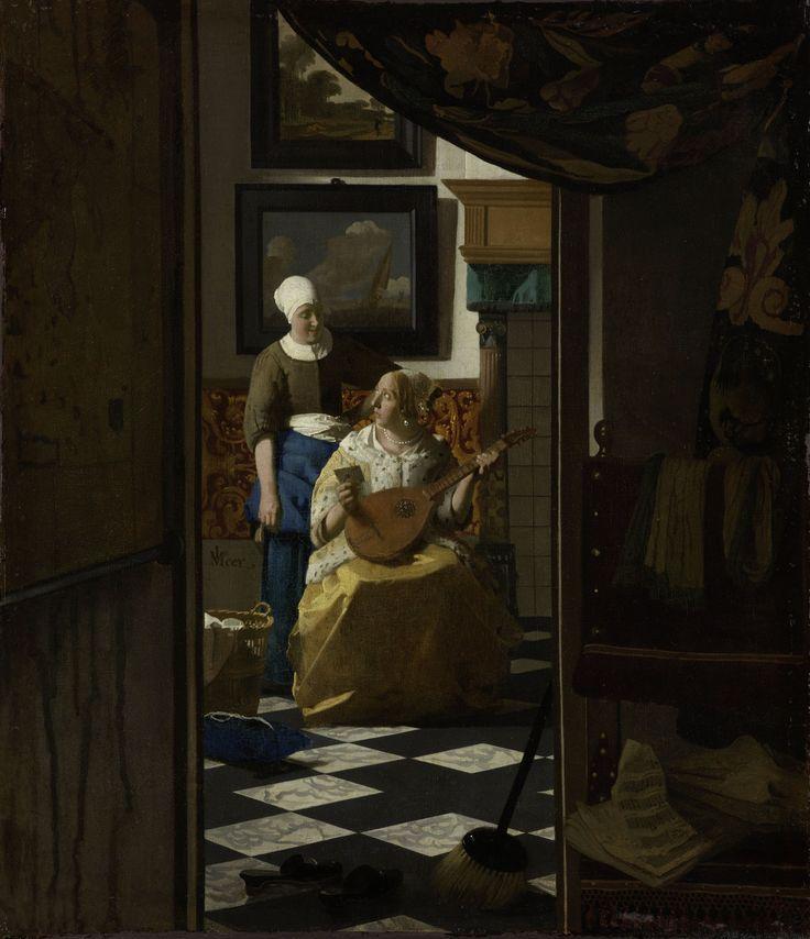 Jan Vermeer - The Love Letter - Vermeer and the Masters of Genre Painting - National Gallery of Ireland - 2017