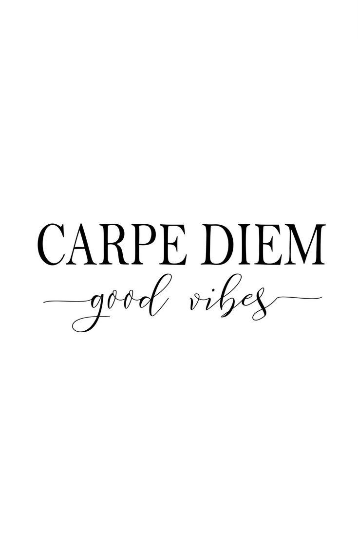 Carpe Diem Good Vibes, idées de cadeaux de patron fille, cadeaux de patron Noël, imprimable en ligne, bestfriend, art mural moderniste, cadeau pour elle, nouvel emploi   – Words