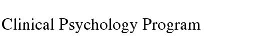 Clinical Psychology Graduate Program — Psychology - Clinical