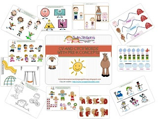 Twin Sisters Speech & Language Therapy: Fun With CV and CVCV Words With Pre-K Concepts