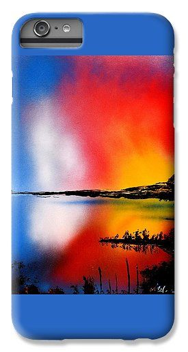 Dawn Twilight IPhone 6s Plus Case Printed with Fine Art spray painting image Dawn Twilight by Nandor Molnar (When you visit the Shop, change the orientation, background color and image size as you wish)