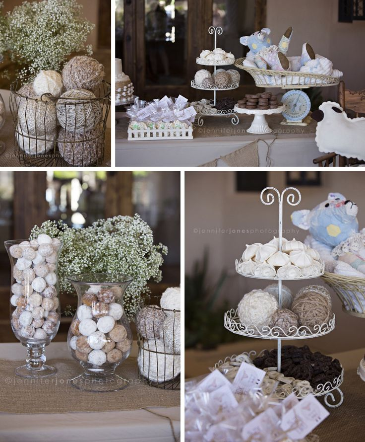 Vintage Lamb Themed Neutral Baby Shower Jennifer Jones Photography Gender Neutral Rustic