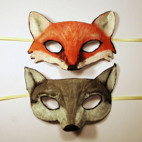 fox masks.