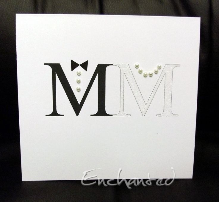 "Clever idea.  The ""M"" for Mrs is covered in white glitter                                                                                                                                                      More"
