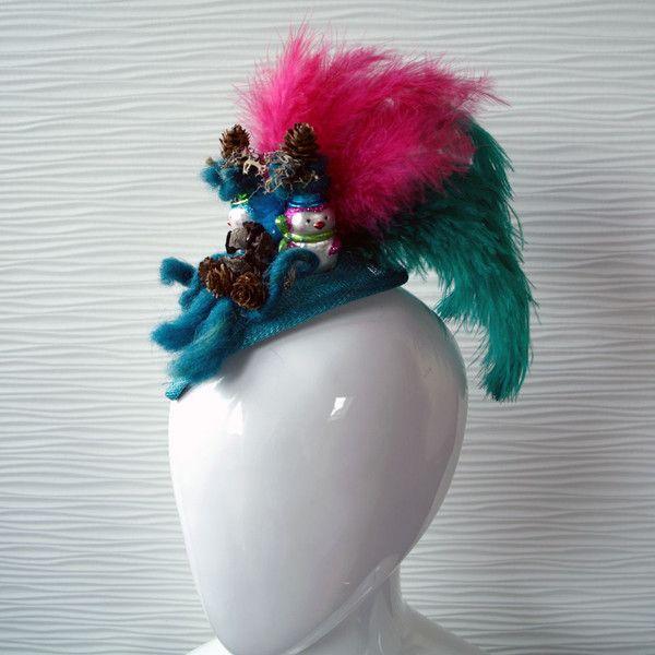 Headpieces & Fascinators - Fascinator petrol blau *Pirates Of The Hawaiian* - ein Designerstück von fascinatorfabrik bei DaWanda