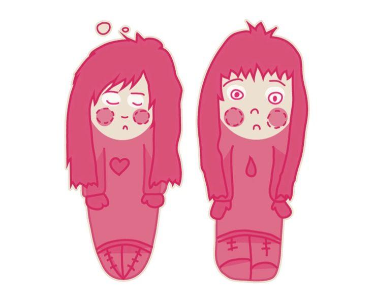 """I wanna draw what's inside"" #illustration #cute #pink #artprint"