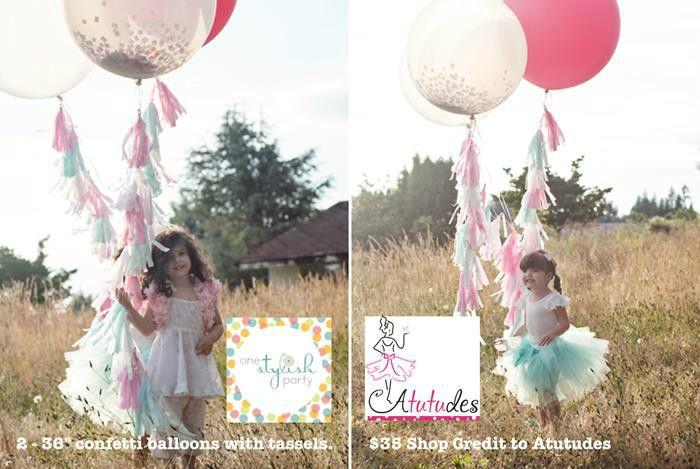 LOVE the fringe tassel balloons! #balloons #partyideas #planning #tasselballoons #confettiballoons