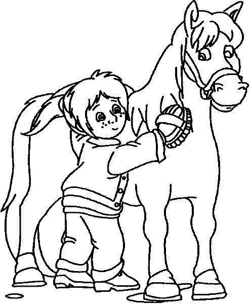 bibi und tina ausmalbilder pferde 06  ausmalbilder