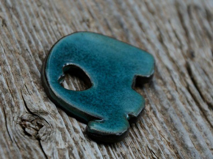 magnes na lodówkę słonik / ceramics magnet fridge elephant art-ab.blogspot.com facebook.com/ceramikashe