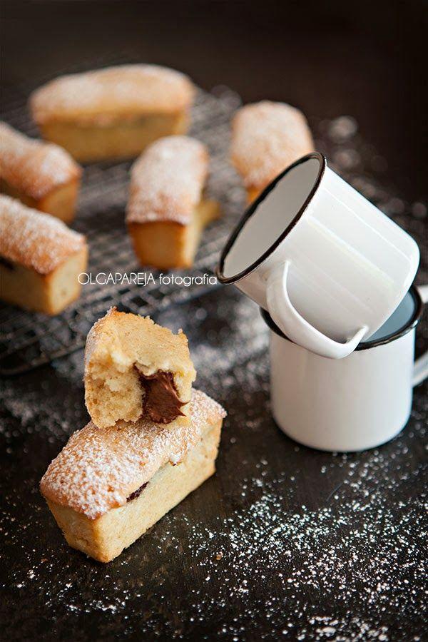 Nina's Kitchen: Mini cuatro cuartos de almendra y crema de chocolate