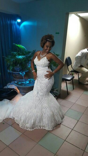 Crochet Mermaid wedding dress